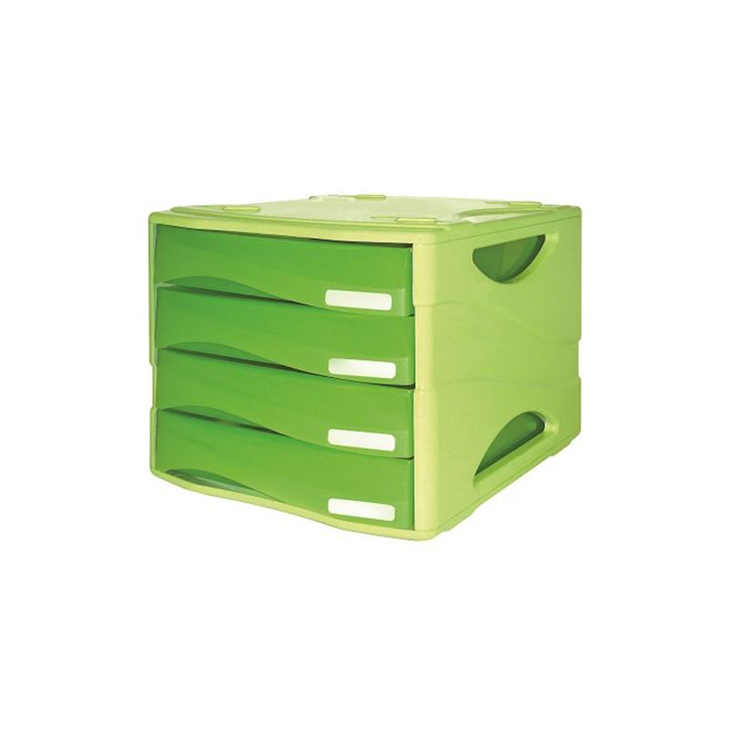 CASSETTIERA Smile ARC 4 cassetti VERDE traslucido - 2 pz Verde - Green