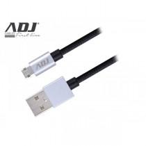 Cavo USB ADJ AI219 USB 2.0/Micro USB - Lunghezza 1.5metri - Reversibile per la carica e la sincronizzazione dei dispositivi mobi