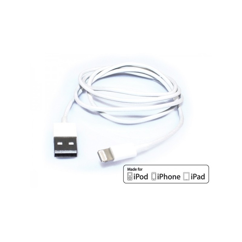 Cavo USB ADJ AI504 MADE FOR APPLE devices of last generation - Lunghezza 1,5 metri - Colore Bianco
