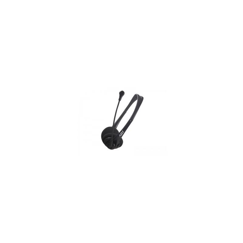 Cuffia USB ADJ CF715 Agile Headset - Con microfono e controllo volume - Lunghezza cavo 2.2 m - Colore Nero