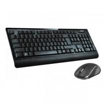Kit Wireless ADJ KW601 Essential Kit: Tastiera Ergonomica + Mouse 3D - Resistente agli schizzi d\'acqua - Colore Nero
