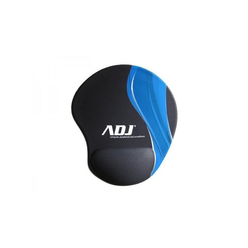 Mouse Pad ADJ con poggiapolso in silicone 205x230 mm - Office Series - Colore Nero