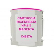 11 Cartuccia Inkjet Monouso Rigenerata Magenta Per Business Inkjet 1000, 1100, 2200,2230, 2250. Compatibile Con C4837ae. Codice