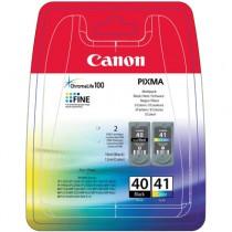Multipack originale PG-40 CL-41- Cartuccia inkjet Nero originale, per Canon JX 200, 500, Pixma MP 140, MP 150, MP 160. Compatibi