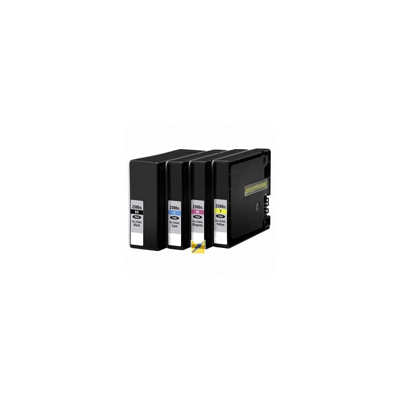 PGI-2500XLY- Cartuccia inkjet Giallo compatibile Maxify IB4050, MB5050, MB5350. Compatibile con 9267B001