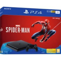 PS4 Console 1TB E Chassis Slim Black + Marvel\'s Spider-Man