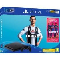 PS4 Console 1TB F Chassis Slim Black + Fifa 19