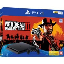 PS4 Console 1TB F Chassis Slim Black + Red Dead Redemption 2