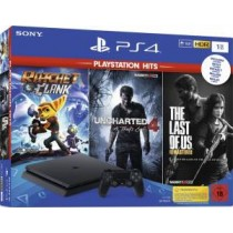 PS4 Console 1TB Slim + Uncharted 4 + Ratchet & Clank + The Last Of Us Remastered