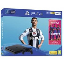 PS4 Console 500GB F Chassis Slim Black + Fifa 19 *