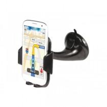 Supporto ADJ Strong Grip con ventosa per Iphone / Smartphone / Navigatore Nero - Office Series - Colore Nero