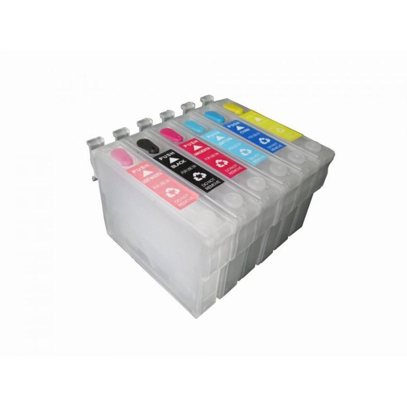 T0806 - Cartuccia vuota autoresettante Magenta Fotografico per Epson Multifunzione Stylus Photo RX 560, RX 585, RX 685, Stylus P