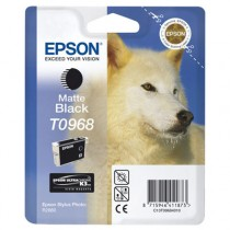 T0968 - Cartuccia Originale Nero Matte Epson Stylus Photo R2880 . Compatibile con T09684020. Codice Cartuccia T0968.