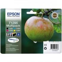 T1295 - L - MultiPack originale Epson T1295, Set composto da n.4 cartucce: n. 1 T1291 + n. T1292 + n. 1 T1293 + n. 1 T1294 SX 42