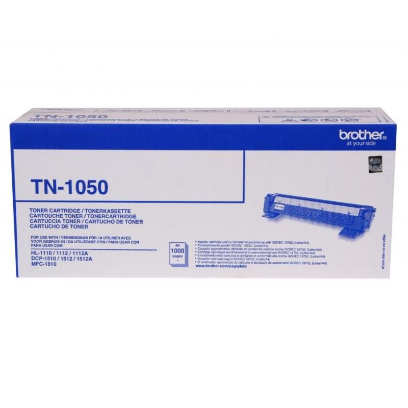 TN-1050 - TONER ORIGINALE NERO PER BROTHER HL 1110, DCP 1510, DCP 1512A, MFC 1810.