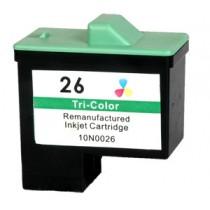 26 Cartuccia rigenerata inkjet a Colori per Compaq IJ 650, Lexmark Serie X (all in one) X72, X74, X75, X1100. Compatibile con 10