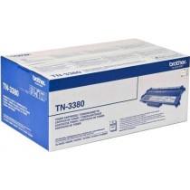 TN-3380 - TONER ORIGINALE NERO PER BROTHER HL 5440D, HL 5450DN, HL 5470DW, HL 6180DW, HL 6180DWT.