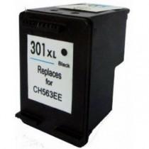 301XL Cartuccia rigenerata inkjet Nero per HP Deskjet 1050, 2050, 2050S, 1000, 3000. Compatibile con CH563EE. Codice cartuccia: