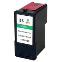 33 Cartuccia rigenerata inkjet a Colori per Lexmark Serie X (all-in-one) X3330, X3350, X5200, X5250, X5270. Compatibile con 18CX
