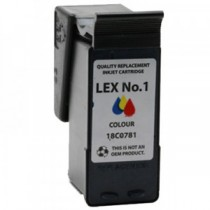 1 Cartuccia rigenerata inkjet a Colori per Lexmark Serie X (all-in-one) X2310, X2330, X2350, X2400, X2450. Compatibile con 18CX0