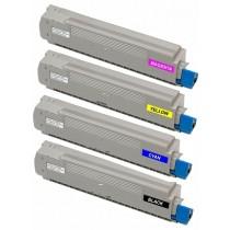 44059229 - Toner rigenerato nero per Oki ES8460, ES8460cdtn, ES8460cdxn