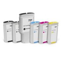 727 - B3P21A Cartuccia inkjet Rigenerata Giallo per HP Designjet T1500, T2500, T920