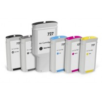 727 - B3P23A Cartuccia inkjet Rigenerata Nero per HP Designjet T1500, T2500, T920