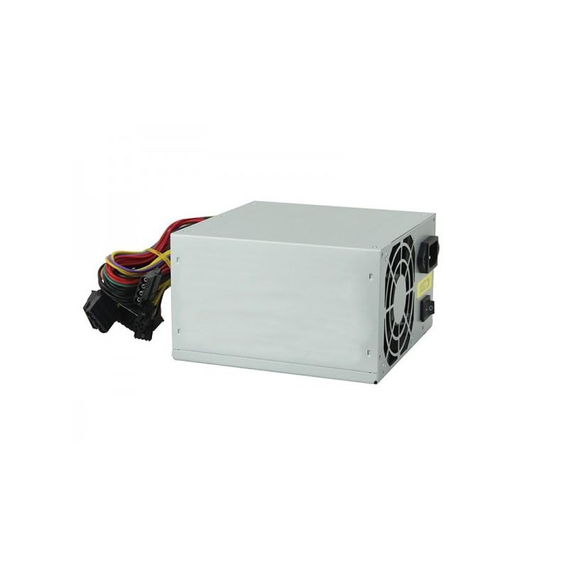 Alimentatore ADJ per PC - potenza Massima 500W - 2*SATA 1*PATA - Lunghezza Cavi: 400mm - con interruttore ON/OFF