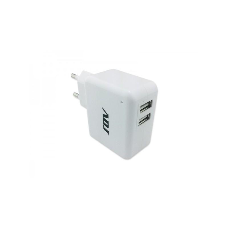 Alimentatore universale per Tablet  casa/ufficio ADJ AI010U - Due porte USB di uscita per alimentare contemporaneamente 2 utenze