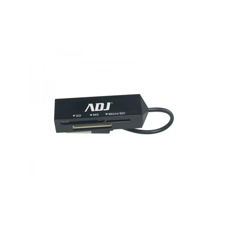 Card Reader Esterno ADJ Traveling CR1926 - Interfaccia USB 2.0 - Compatibile con TF- Flash (Micro SD)/MS/SD/Mini SD - Office Ser