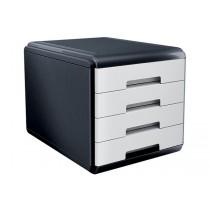 CASSETTIERA Mydesk 4 cassetti - Infrangibile - Colore BIANCO Bianco - White