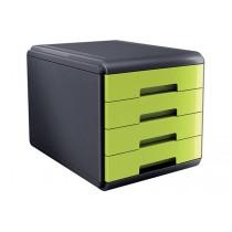 CASSETTIERA Mydesk 4 cassetti - Infrangibile - Colore VERDE Verde - Green