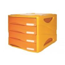 CASSETTIERA Smile ARC 4 cassetti ARANCIONE traslucido - 2 pz Arancio - Orange