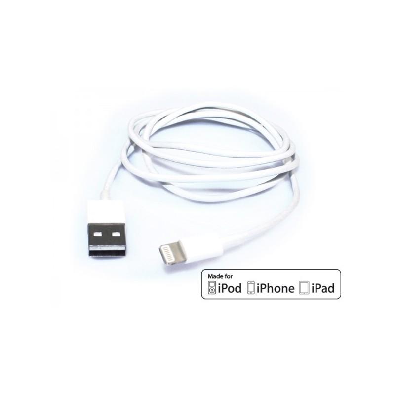 Cavo USB ADJ AI504 MADE FOR APPLE devices of last generation - Lunghezza 1,5 metri - Colore Bianco
