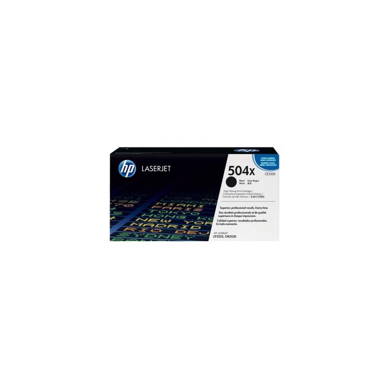 CE250X - TONER ORIGINALE NERO HP COLOR CP3525N, CP3525 DN, CP3525 X, CM 3530 FS, CM3530MFP.