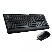 Kit USB ADJ KT601 Essential Kit: Tastiera Ergonomica + Mouse 3D - Home Series - Colore Nero