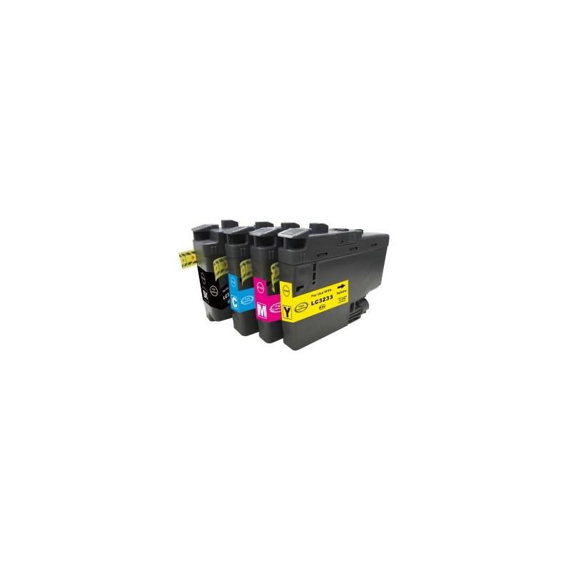 LC-3233BK- LC3233BK Cartuccia Nero compatibile per DCP-J1100 DW e Brother MFC-J1300 DW