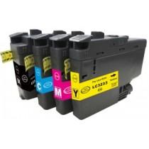 LC-3233Y- LC3233Y Cartuccia Giallo compatibile per DCP-J1100 DW e Brother MFC-J1300 DW