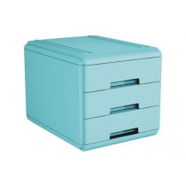 MINI CASSETTIERA 3 cassetti Colore AZZURRO - Conf. 4pz Azzurro - Light Blue