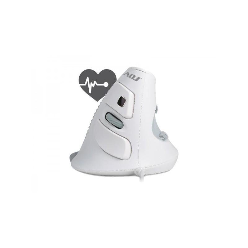 Mouse USB ADJ MO618 Shark Mouse ad orientamento verticale - Con tasto per controllare il battito cardiaco - Tecnologia Ottica -