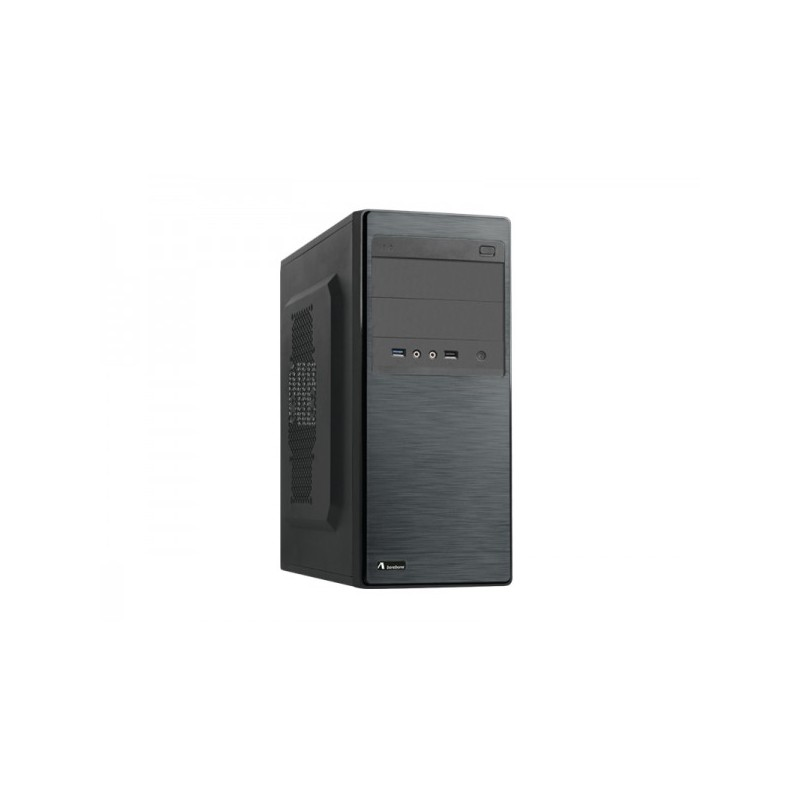 PC Case ADJ con Micro ATX & ATX 1*USB 3.0 + 1*USB 2.0 e Audio HD Colore Nero