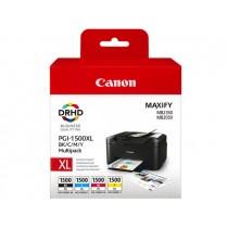 PGI-1500XL Multipack BK,C, M, Y per Canon Maxify MB2050, MB2350.