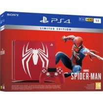 PS4 Console 1TB Limited Edition Amazing Red + Marvel\'s Spider-Man