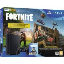 PS4 Console 500GB E Chassis Slim Black + Fortnite VCH