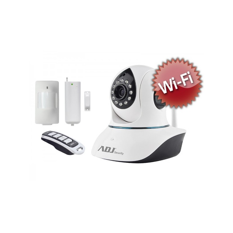 Smart Home Kit per videosorveglianza a colori da interno ADJ 740-00005 con 1 Telecamera IP Argo wi-fi + 1 Sensore Pir wireless +