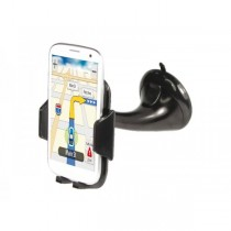 Supporto ADJ Strong Grip con ventosa per Iphone / Smartphone / Navigatore Nero - Office Series - Colore Nero