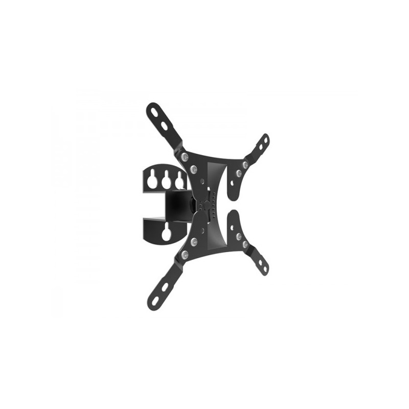 Supporto Universale Regolabile ADJ per TV/Monitor - Schermo da 10 a 37 - Capacità max 20 Kg - Rotazione 60° - 1 Snodo - Inclinaz