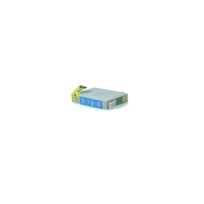 T0712 Cartuccia inkjet Compatibile Ciano per Epson Multifunzione Stylus Sx 200, 205, 400, 400 WI FI, 405. Compatibile con T07124
