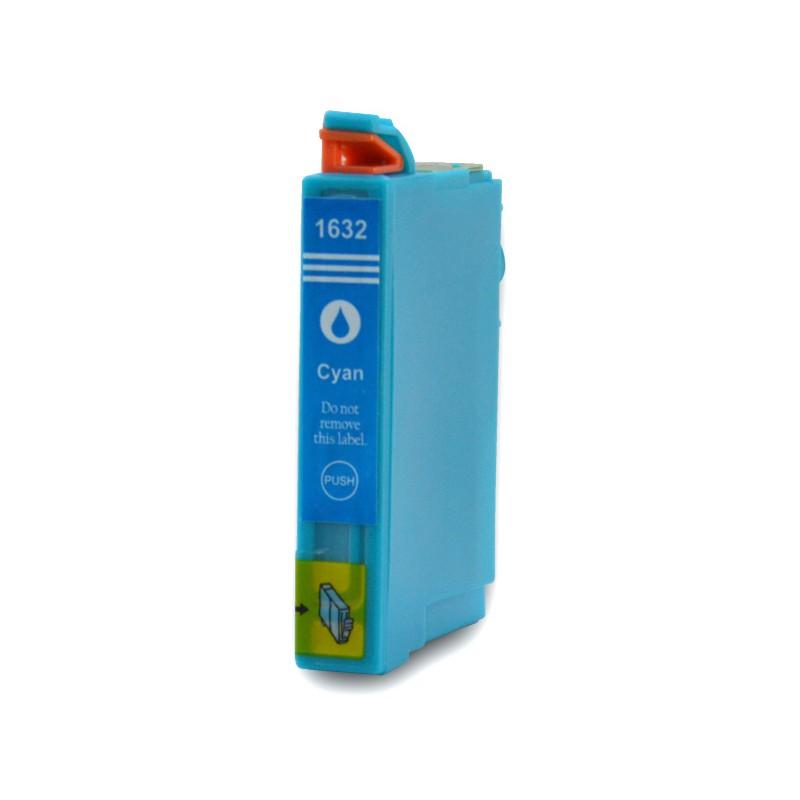 T1632 - 16XL - Cartuccia inkjet compatibile Ciano per Epson Workforce WF 2010W, WF 2510WF, WF 2520NF, WF 2530WF. Compatibile con