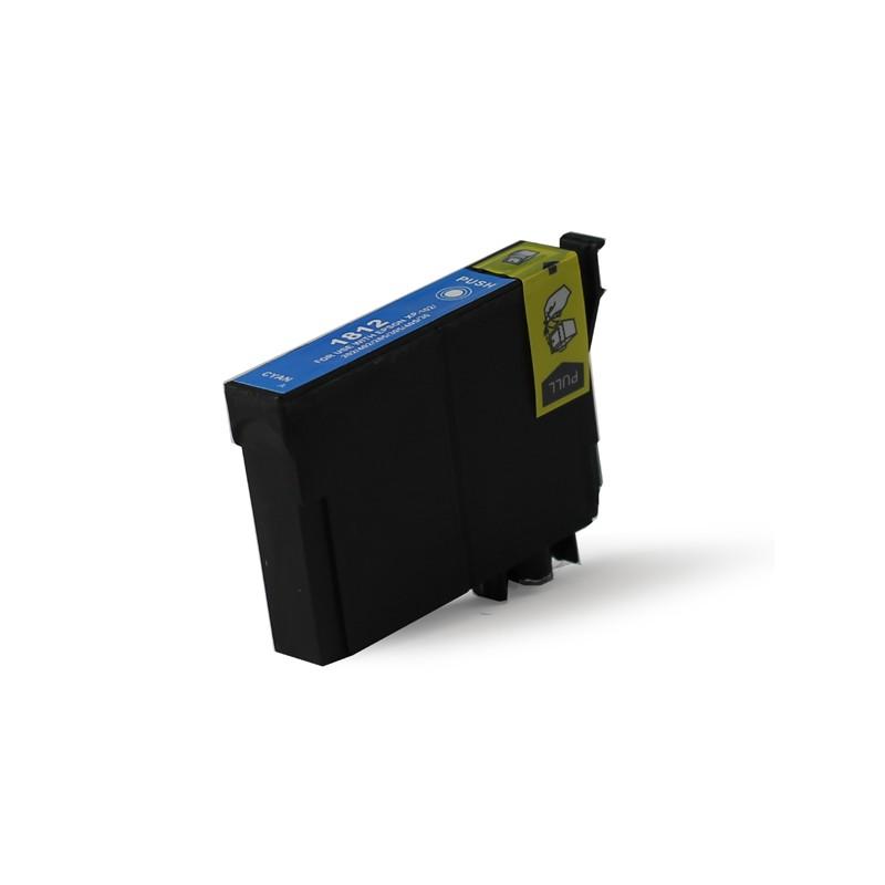 T1812 - XL - Cartuccia inkjet compatibile Ciano per Eps Expression Home XP 30, XP 102, XP 202,XP 205. Compatibile con T18124020.